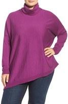 Eileen Fisher Plus Size Women's Merino Jersey Asymmetrical Turtleneck