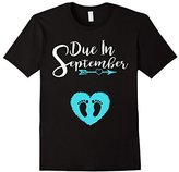 Due In September Cute Baby Boy Maternity Announcement Shirt