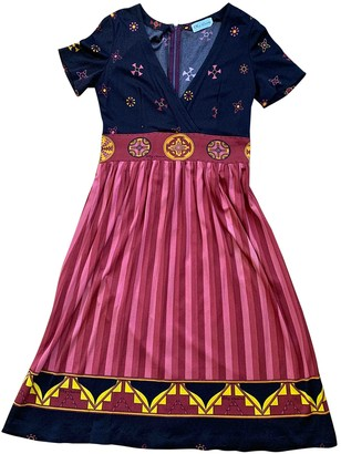 Oleg Cassini Multicolour Dress for Women Vintage