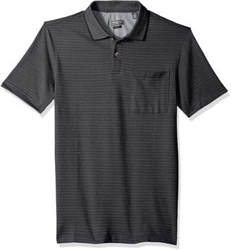 Van Heusen Men's Size Fit Flex Short Sleeve Stretch Stripe Polo Shirt