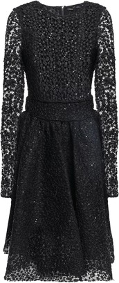 Maje Sequin-embellished Lace Dress