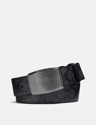 Coach Stitched Plaque Buckle Cut-To-Size Reversible Belt, 38Mm
