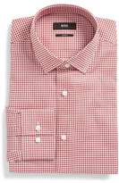 BOSS Jenno Slim Fit Easy Iron Plaid Dress Shirt