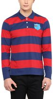 American Crew Men's Premium Jersey Long Sleeve Stripes Polo T-Shirt- L (AC256BFS-L)