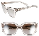 Jimmy Choo Women's 'Maggi' 51Mm Crystal Embellished Sunglasses - Dark Grey
