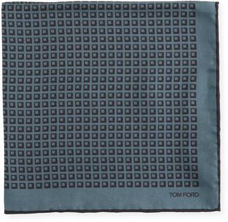 Tom Ford Men's Silk Square-Motif Pocket Square