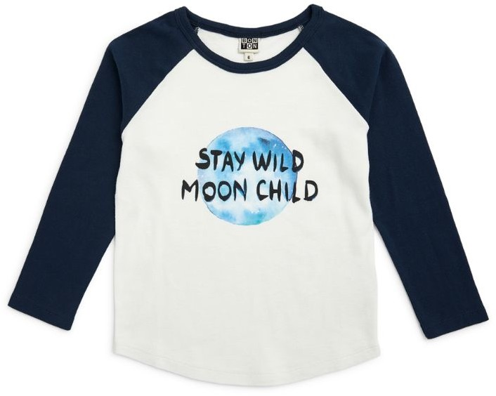 Bonton Cotton Slogan Long-Sleeved T-Shirt (4-12 Years)