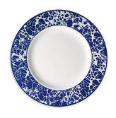 Caskata Marble Dinner Plate - White/Blue