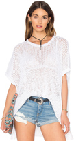 James Perse Open Stitch Poncho Top