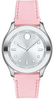 Movado Bold Bold Stainless Steel and Pink Silicone Watch