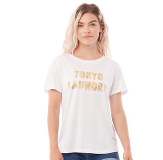 Tokyo Laundry Womens Malian T-Shirt Optic White