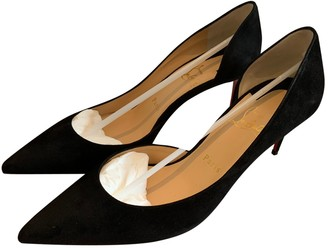 Christian Louboutin Iriza Black Suede Heels