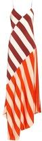 Jonathan Saunders Connie stripe-print sleeveless dress