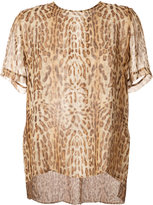 ADAM by Adam Lippes ocelot print blouse - women - Silk - 0