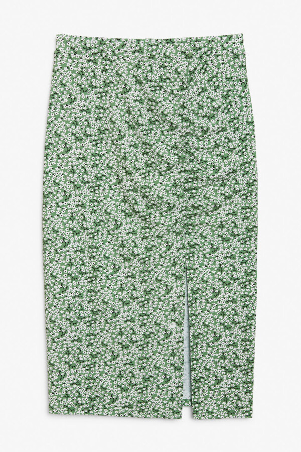 Thumbnail for your product : Monki Ruched pencil skirt