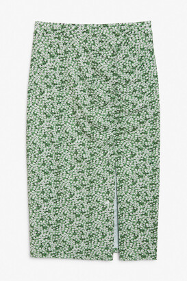 Monki Ruched pencil skirt