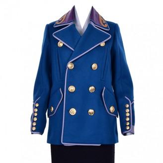 DSQUARED2 Blue Wool Coats
