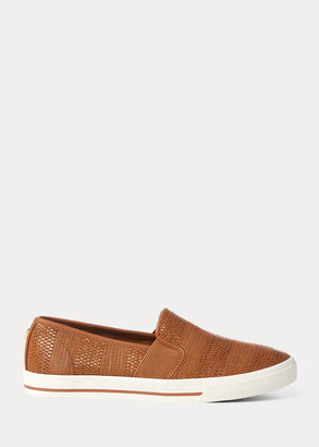 Ralph Lauren Jinny Woven Slip-On Sneaker