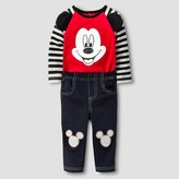 Disney Baby Boys' Mickey Mouse Top and Bottom Set - Red