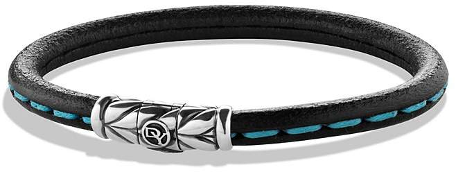 David Yurman Leather Bracelet in Blue