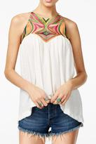 Free People Beautifully Embroidered Top