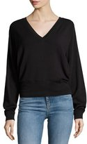 Rag & Bone Cozy V-Neck Pullover Sweater, Black