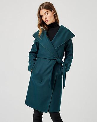 Le Château Cashmere-like Hooded Wrap Coat