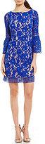Eliza J Lace Bell Sleeve Shift Dress