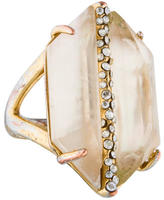 Alexis Bittar Mother of Pearl Doublet & Crystal Ring