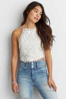 American Eagle Outfitters AE Eyelet Halter Top