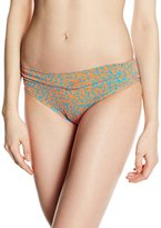Moontide Women's Gabon Twist Briefs Floral Bikini Bottoms
