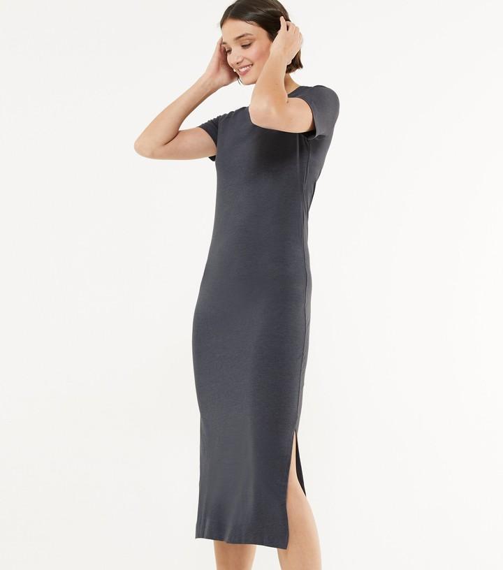 New Look Noisy May Jersey Short Sleeve Midi Dress