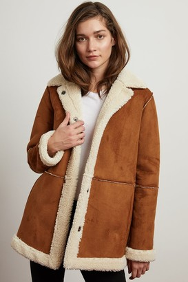 Velvet by Graham & Spencer Kailani Faux Suede Sherpa Oversized Coat