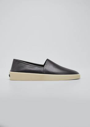 Fear Of God X Zegna Men's Smooth Leather Espadrilles