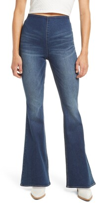 Tinsel High Waist Flare Pull-On Jeans