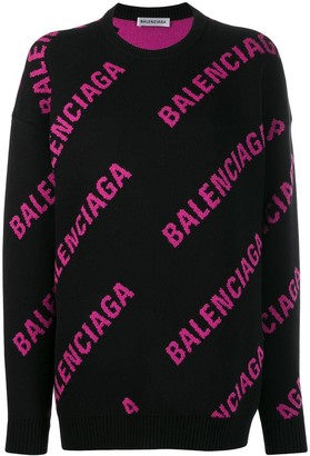 Balenciaga Logo Crew Neck Sweatshirt