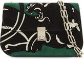 Valentino Panther small suede cross-body bag