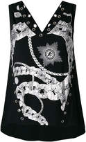 Just Cavalli graphic print tank top