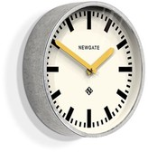 Newgate Galvanised Steel Luggage Wall Clock With Yellow Hands