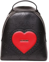 Love Moschino Black Eco Leather Heart Backpack