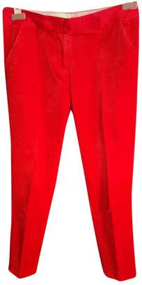 By Malene Birger Red Velvet Trousers