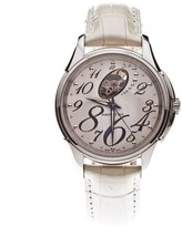 Hamilton Jazzmaster H324650 White Dial White Leather Band Automatic Womens Watch