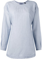 Sara Lanzi back button shirt - women - Cotton - S