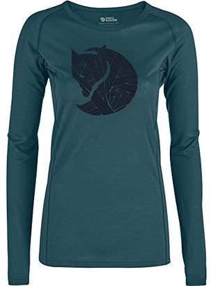 Fjallraven Abisko Trail T-Shirt Printed LS W - Women's T-Shirt, Womens