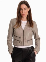 Oakwood Rachel Leather Jacket Grey - S