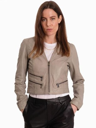 Oakwood Rachel Leather Jacket Grey - XS