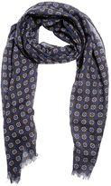 Lardini Allover Print Wool Gauze Knit Scarf