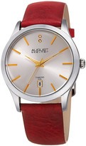 August Steiner Women&s Diamond Quartz Leather Strap Watch - 0.01 ctw