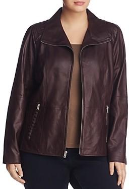 Andrew Marc Plus Fabiana Leather Jacket