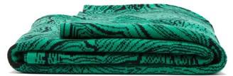 Saved Ny - Malachite Cashmere-jacquard Blanket - Green